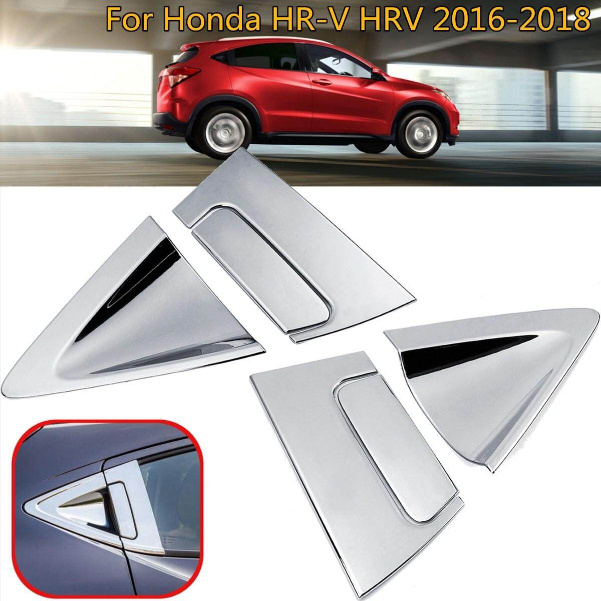 6pcs Chrome Rear Door Handle Cover Bezel Trim For Honda Hr-V Hrv 2014-2018 Abs By Audew.