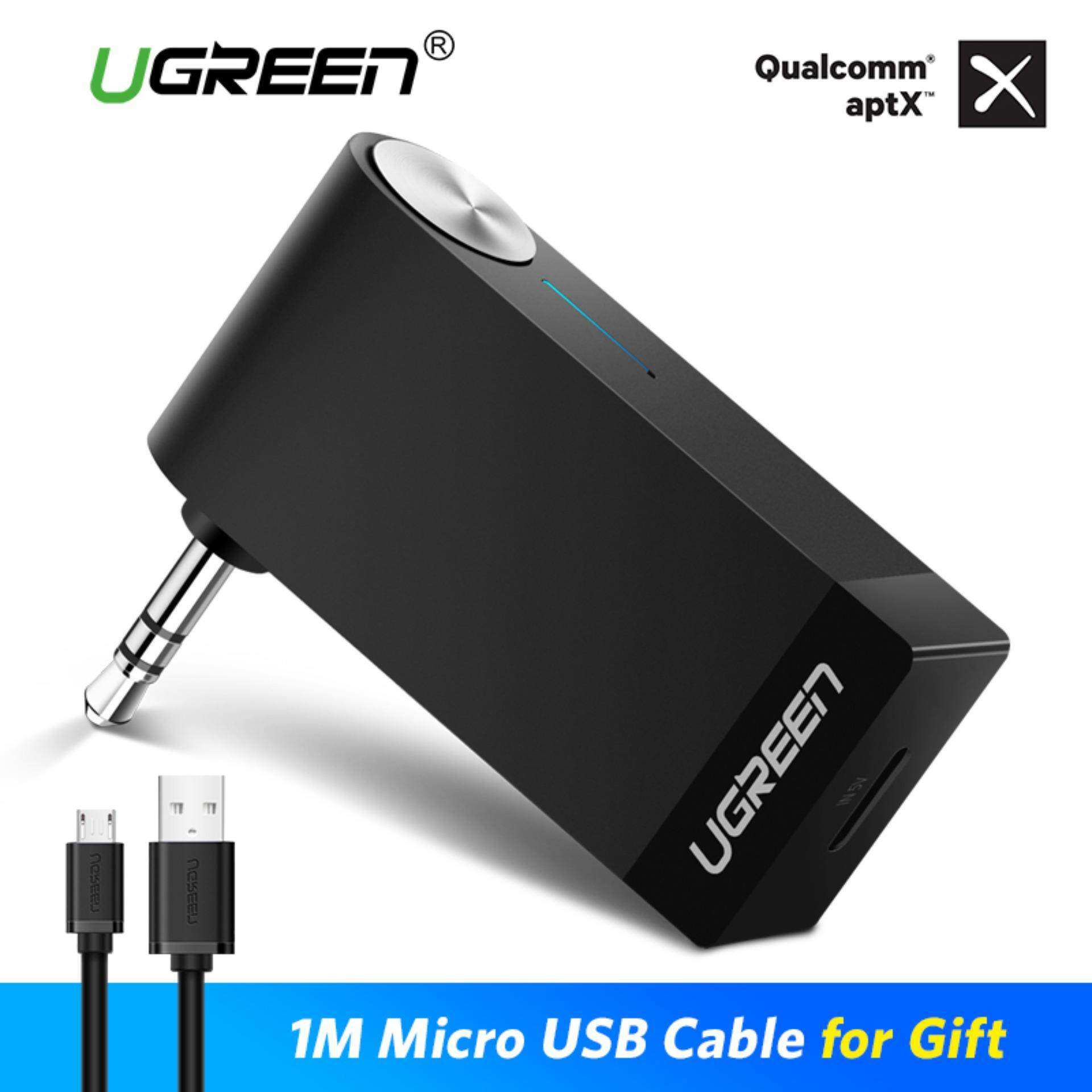 Ugreen V4.2 Bluetooth Receiver 3.5mm Jack Bluetooth Audio Music Wireless Receiver Adapter Car Aptx Certification With Mic Hands-Free For Speaker Headphone By Ugreen Flagship Store