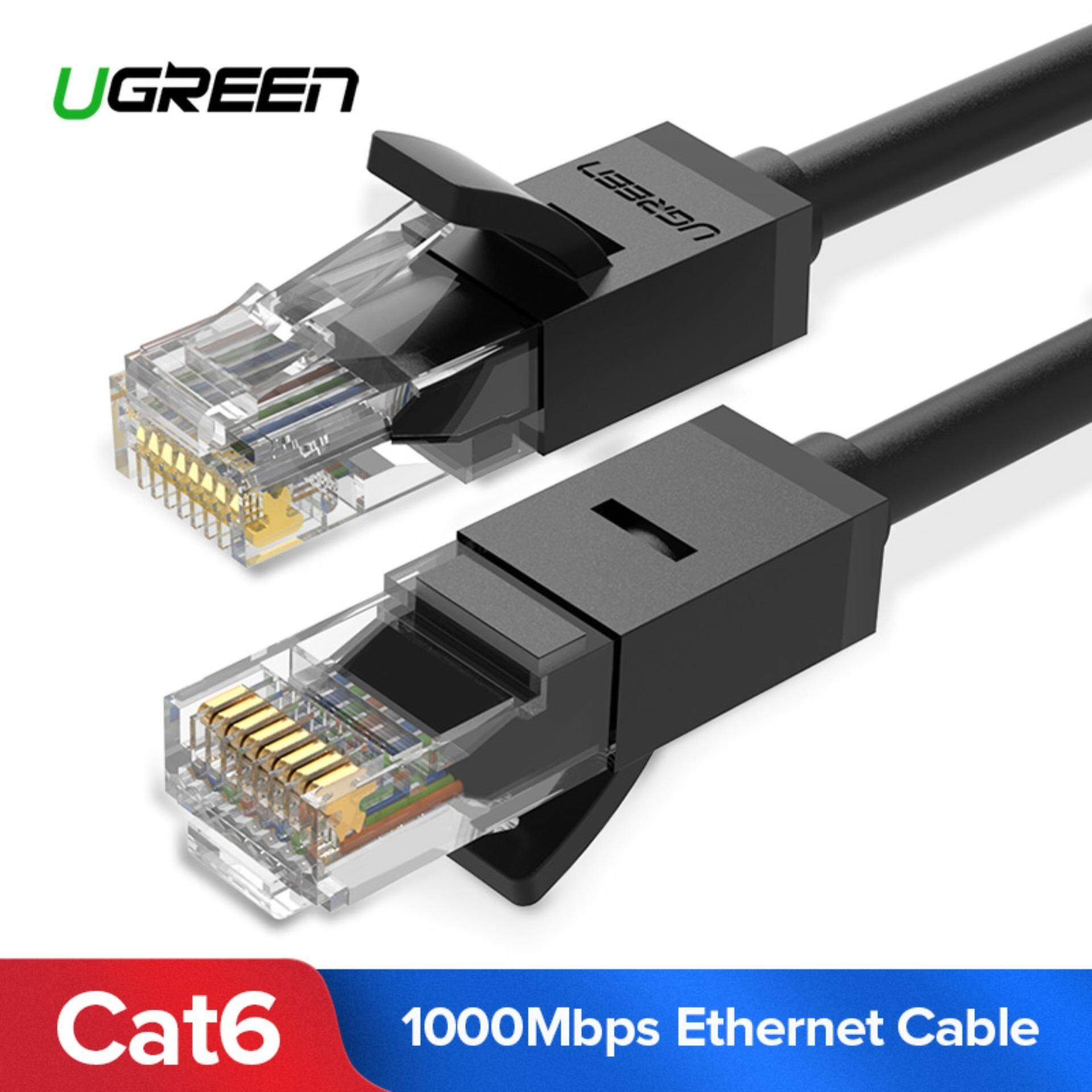 Computer Laptop Ethernet Cables For The Best Prices In Malaysia Electrical Wiring Youtube Together With Sewing Machine 2 Pin Ugreen 25 Meter Cat6 Patch Cable Gigabit Rj45 Network Wire Lan Plug Connector