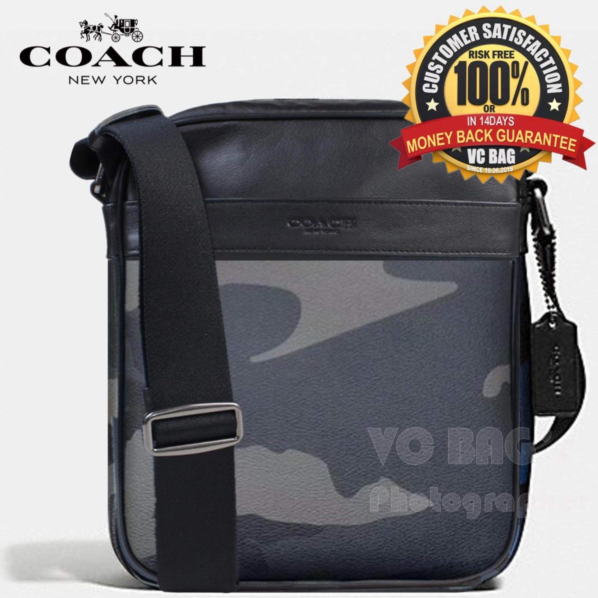 9979f8176354 promo code coach f57564 mens charles flight bag in indigo camo grey 5ce70  1537f