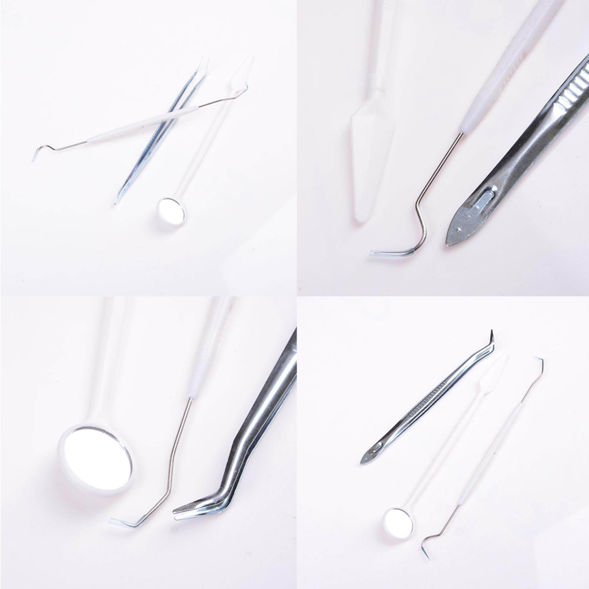 Dental Instruments Mouth Mirror Probe Tweezers Teeth Tooth Clean Hygiene Kit By Variety Grace.