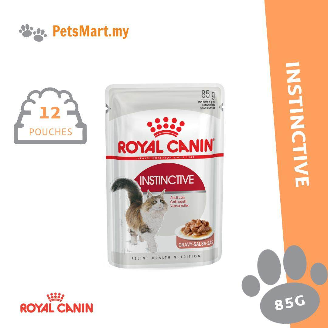 Royal Canin 85g Wet Instinctive Pouch Wet Cat Food X 12 Pouches By Petsmart.my.