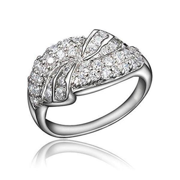 Bloomcharm Wonder Land 18k Gold Plated Cubic Zirconia Engagement Wedding Eternity Ring, Birthday Gifts For Women Friends Girls (gold, 9) By Buyhole.