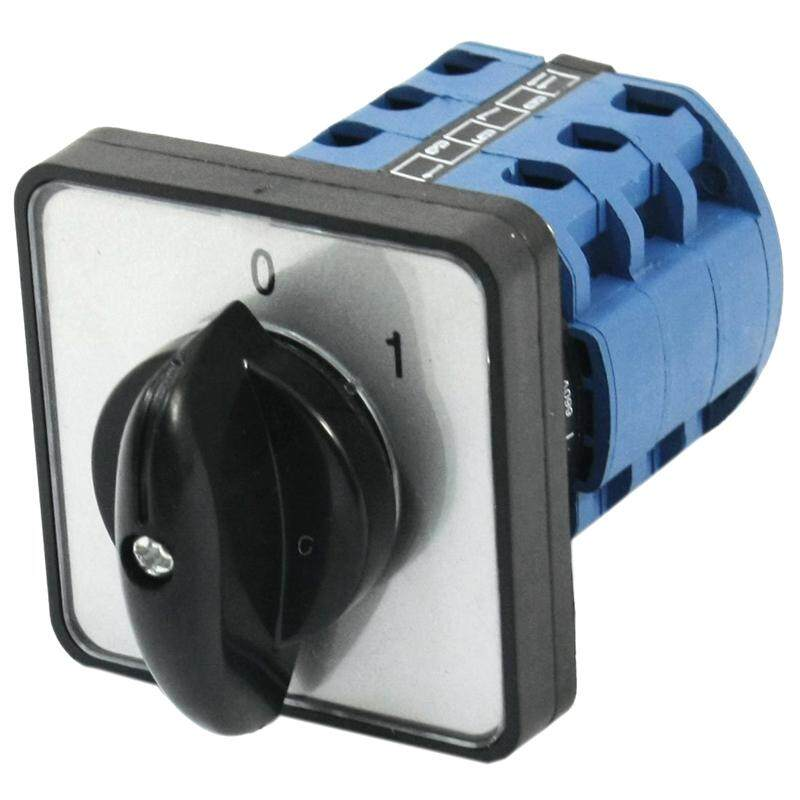 Square Panel Mounting 2-Position 3-Phase Rotary Changeover Switch CA10