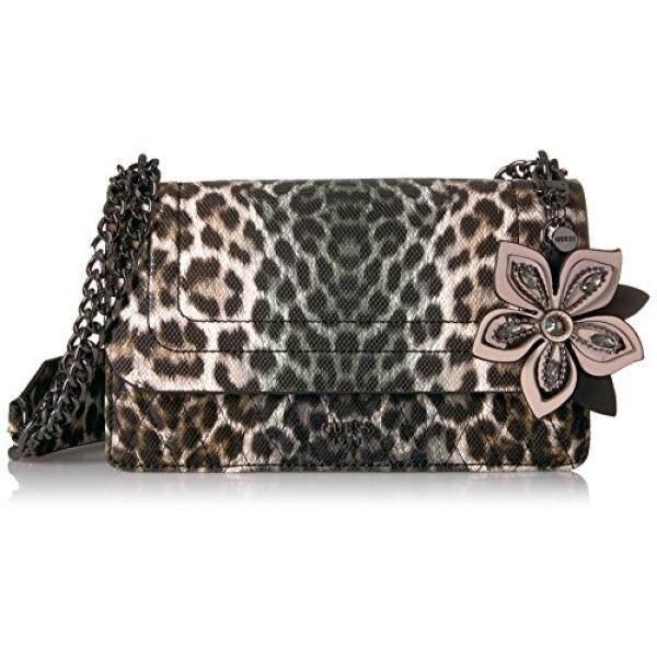 Guess Sibyl Leopard Convertible Crossbody Flap