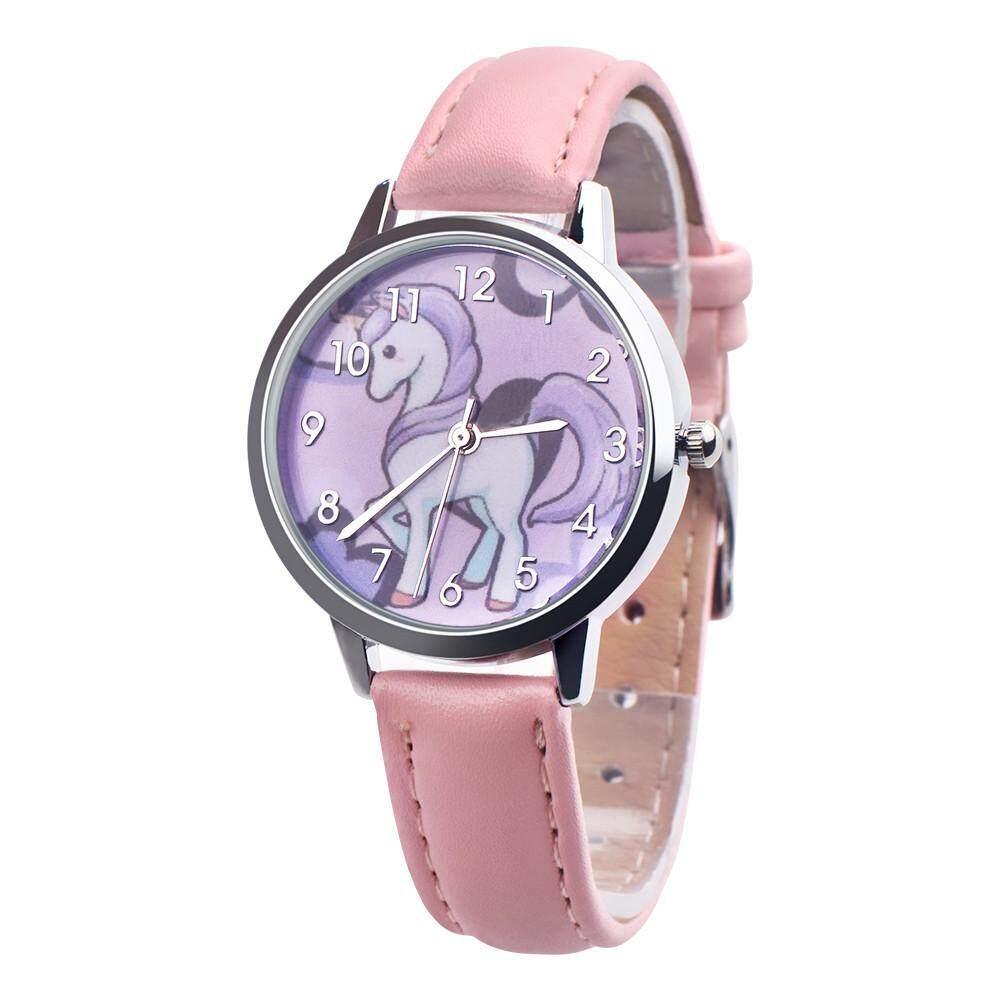 75d07cd07 Fashion Cute Animal Kids Girls Leather Band Analog Alloy Quartz Watch