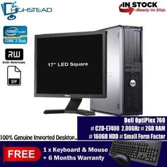 DELL 760 C2D E7400 2.80GHz 2GB 80GB +19 LED Square Refurbished