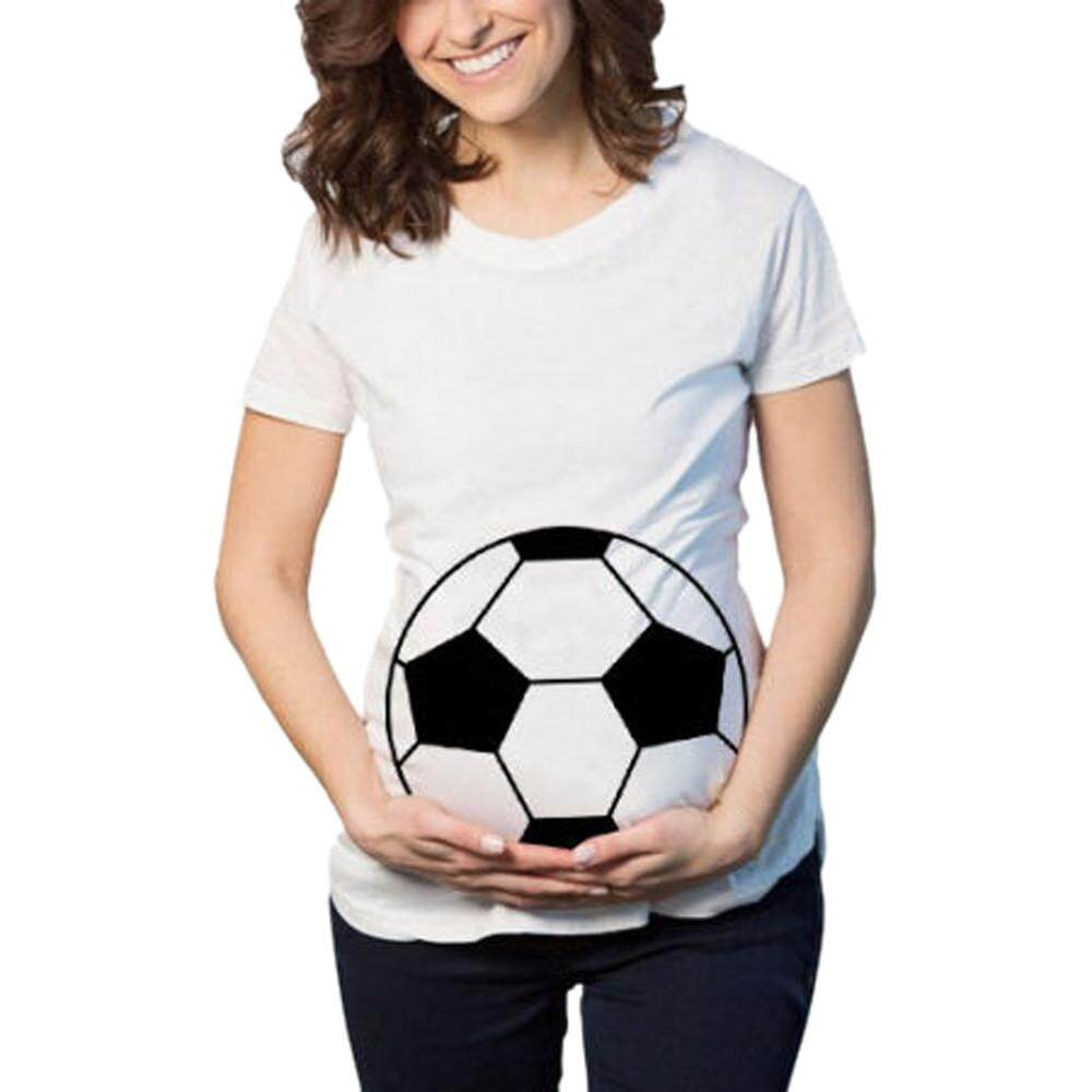 Foctroes Womens Football Print Pregnants Casual Nursing Blouse Maternity T-Shirt Tops By Foctroes.
