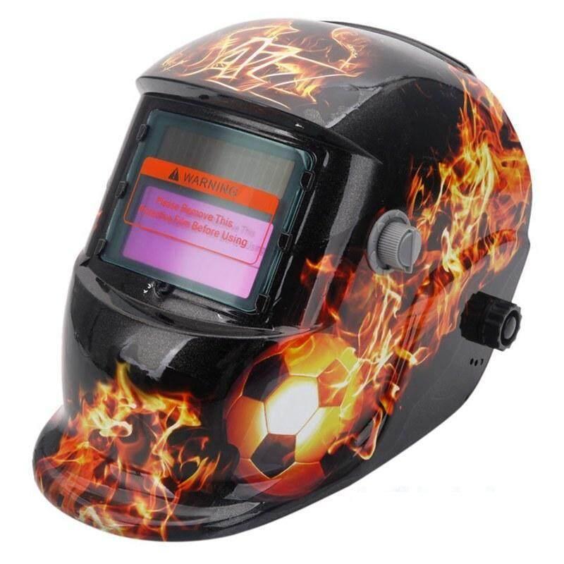 Welding Helmet Solar Auto Darkening,Adjustable Shade Range DIN 9-13/Rest DIN 4,Welder Protective Gear ARC MIG TIG (Flame Soccer)