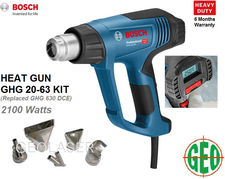 BOSCH 2,100W GHG 20-63 KIT PROFESSIONAL HEAT GUN C/W ACCESSORIES (Replacement For GHG 630 DCE ) [ GEOLASER ]
