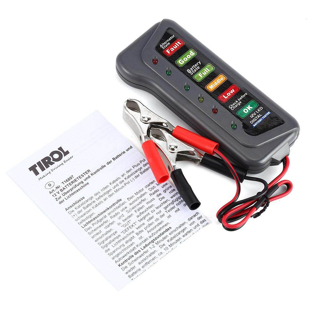 Battery Testers Buy At Best Price In Malaysia Protection Circuit Board For 74v Power Tool T16897 12v Digital Alternator Tester With 6 Led Lights Display Car Vehicle Diagnostic
