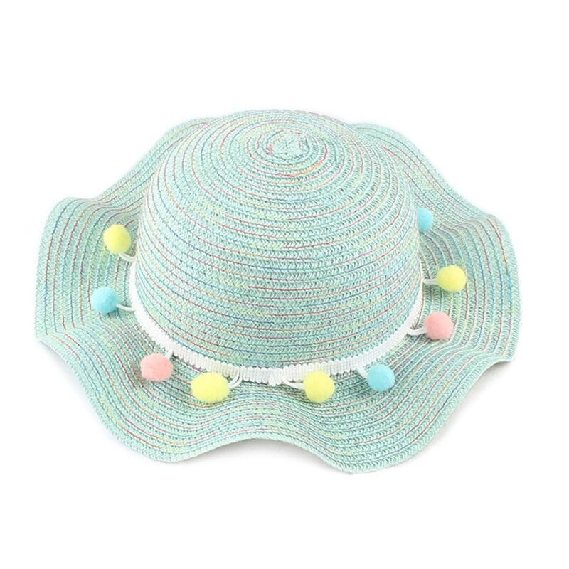 7bf0fda31 New Fashion Summer Kids Straw Hats Colorful Baby Girls Beach Cap Baby  Photography Props Baby Girl Hat Sun Caps