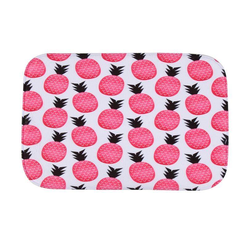Antiskid Mat Doormat Area Rug Carpet Bathroom Floor Mat Outdoor Indoor Home Dining Room Decor 40cm*60cm Pink pineapple