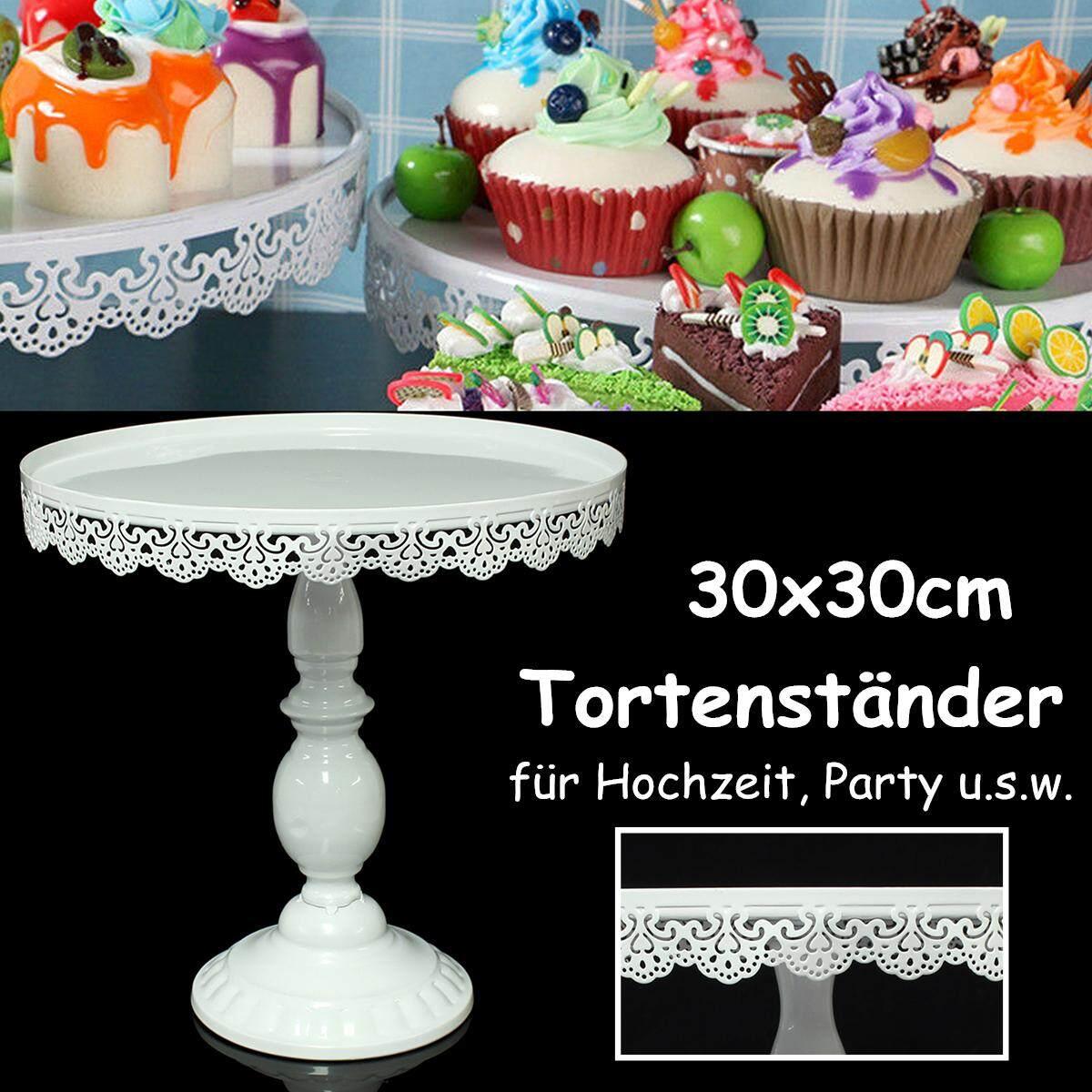 924b6efca3d7 30*30cm White Round Cake Cupcake Stand Modern Dessert Wedding Birthday  Party Event Decor