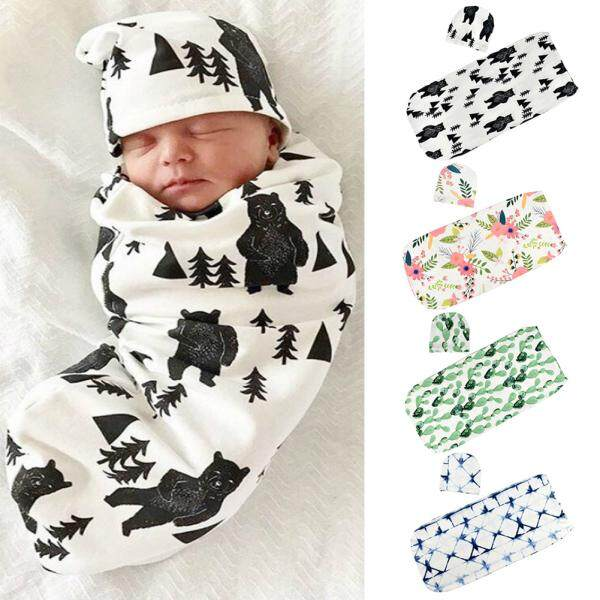 Newborn Baby Blanket Cocoon Swaddle Sleeping Bag Newborn Photography Prop With Hat By Wangwang Store.
