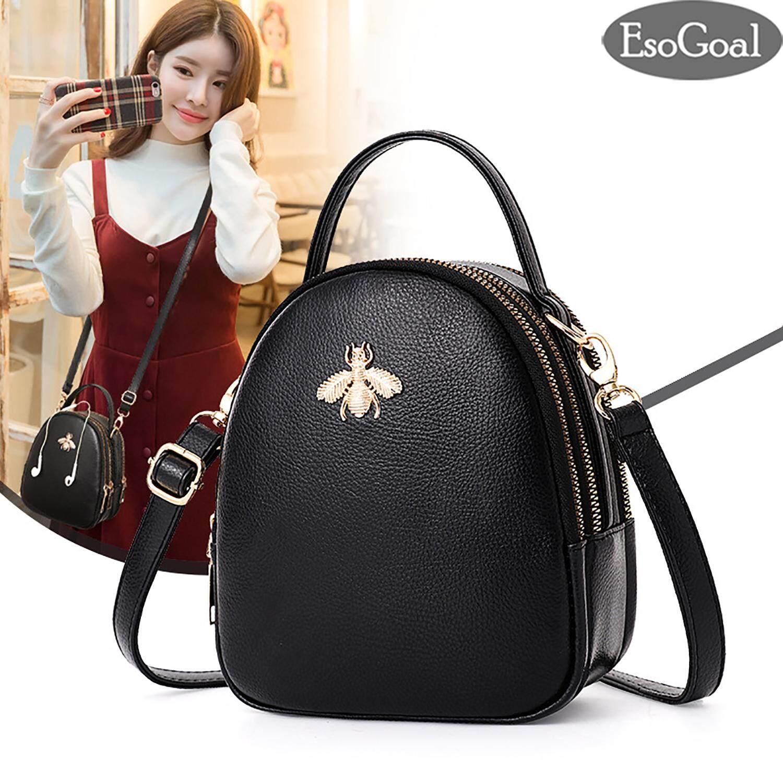 EsoGoal Women Cross Body Shoulder Bags Sling Bag PU Leather Handbag Top-handle Wallet Purse