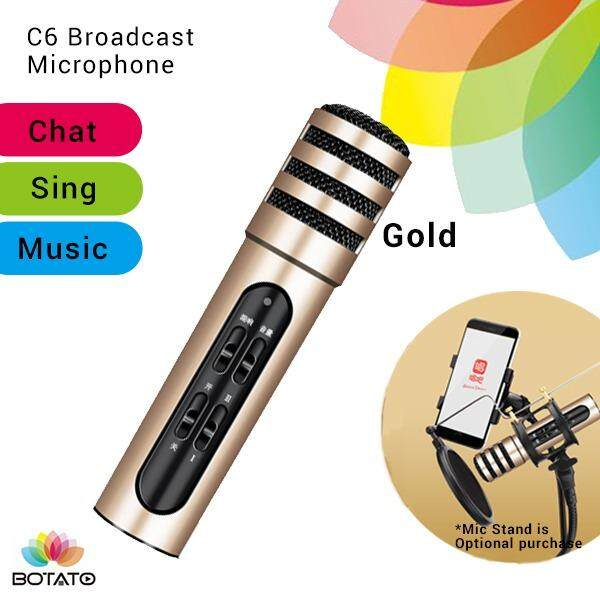 [[c6 Microphone]] Live Mic For Handphone Karaoke Singing [[botato Electronic]] By Botato Electronics.