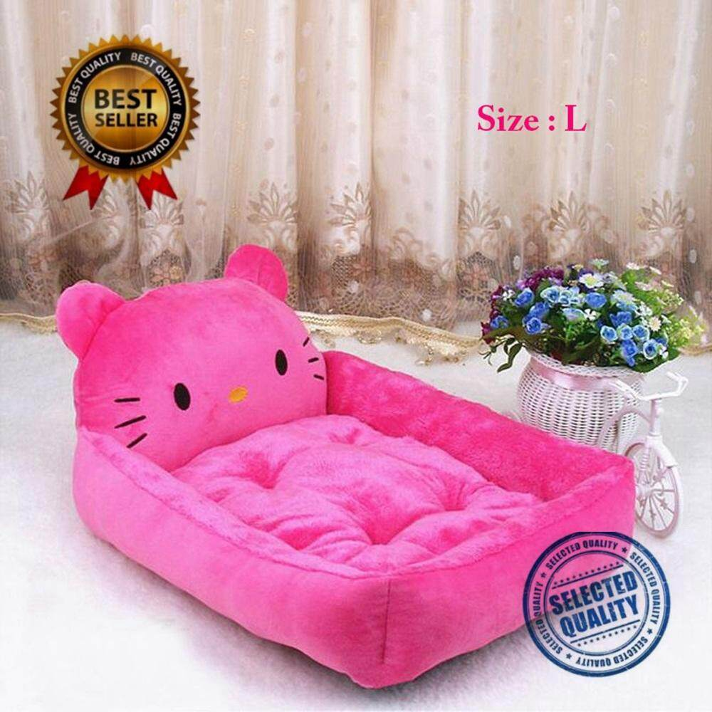 Cute Animal Dog Beds Mats Teddy Pet Dog Sofa Pet Cat Bed House Big Blanket Cushion Basket Supplies6 Colors 2 Sizes Optional(l_pink Kt Cat) By Longchain.