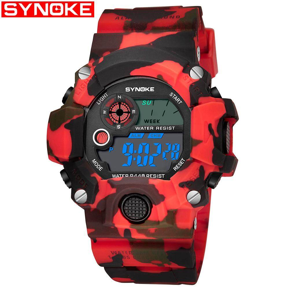 SYNOKE Sports jam tangan lelaki Digital watch for man Wristwatches Men jam tangan g Stylr shock Waterproof Shockproof jam tangan lelaki Malaysia