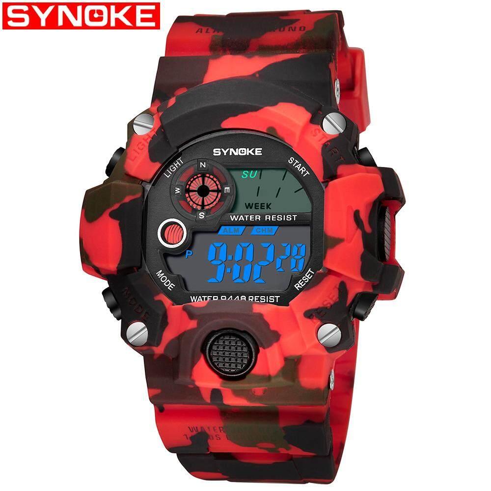 SYNOKE Sports jam tangan lelaki Digital watch for man Wristwatches Men jam tangan g Stylr shock Waterproof Shockproof jam tangan lelaki Malaysia