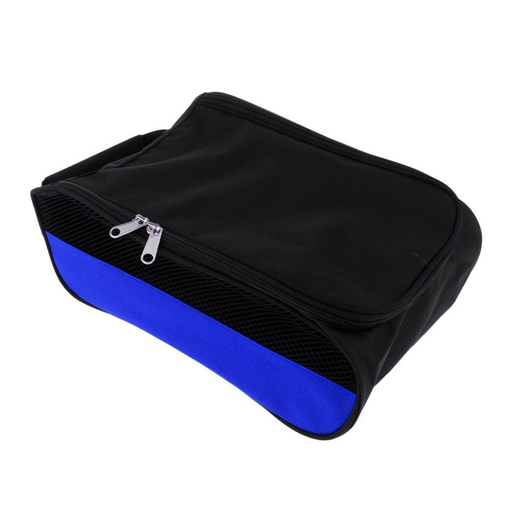 Flameer Portable Golf Sports Shoes Bag Zippered Shoe Case Black+blue Net Side By Flameer.