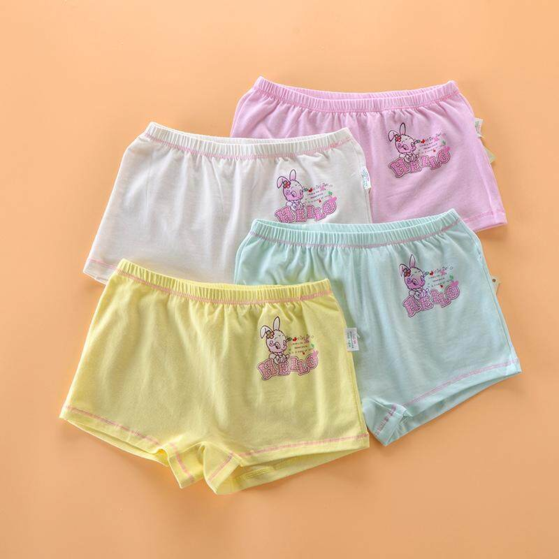 94814414d Girls Big Kid Boxer Underpants Children Four Corners in Pants Cotton the End  of Trunks 2017