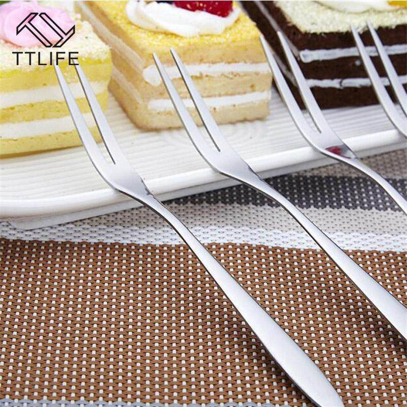 Ttlife Ttlife Stainless Steel Two Tooth Fruit Fork Fashion Dessert Fork Eating Very Convenient For Restaurant Cafeteria Home Flatware By Ttlife Fashion Zone.