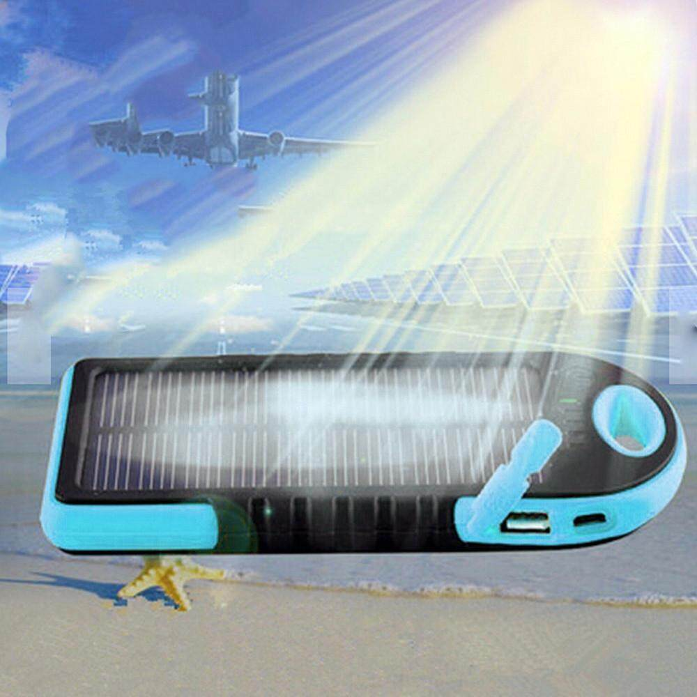 LED Outdoor Travel Dual USB Solar Mobile Phone Power Bank Case Charger DIY  Kit