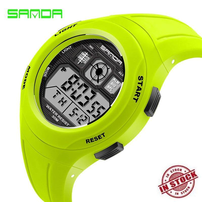 TTLIFE 【Promotion :free shipping 】New upgrade SANDA 331 High Quality Fashion Primary School Students Kids Candy Color Waterproof Sports Watch 6 colors for Children Malaysia