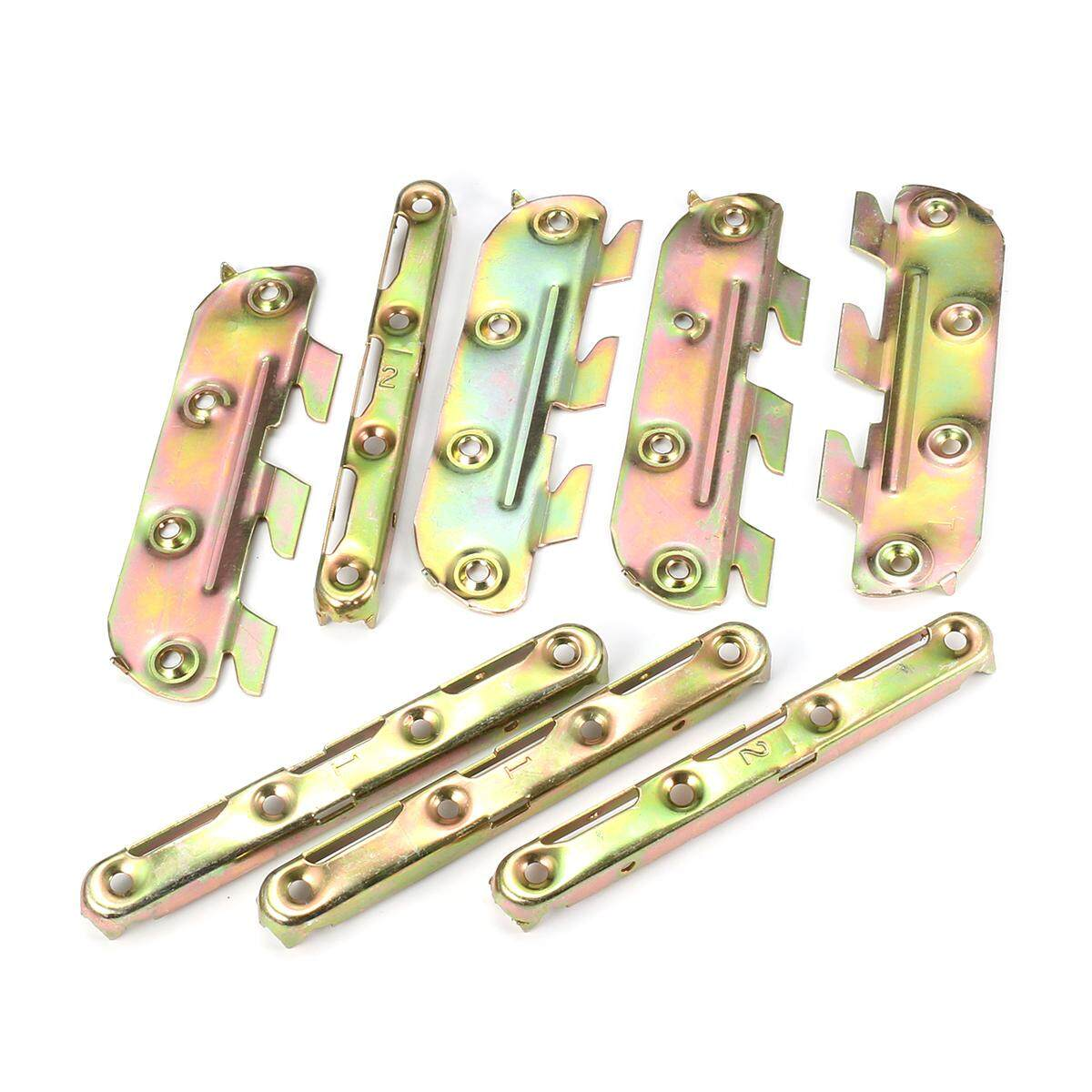 8 Pcs/set 127mm Iron Bed Fittings Connectors Bracket Joiners Replacement Hook By Glimmer.