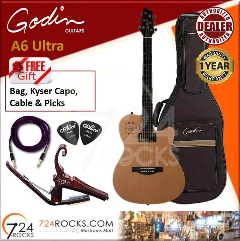 Godin A6 Ultra Natural SG Dual Outputs Acoustic Electric Guitar (A6Ultra, A6-Ultra) Malaysia
