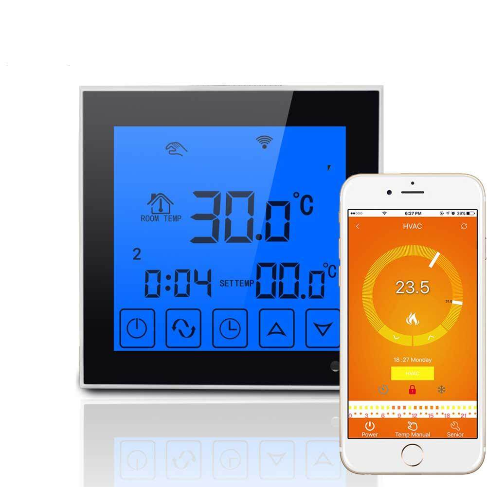 MG Wifi Large Touch Screen Display Thermostat Programmable Remote Temperature Controller