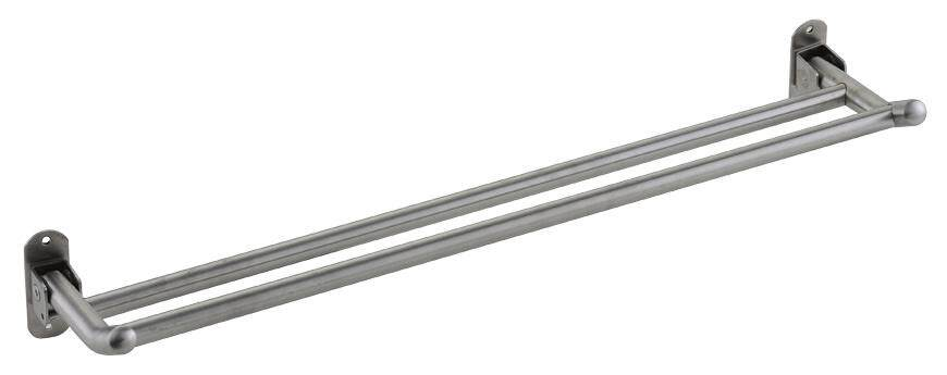 ROCCONI Towel Rail Bath Hanger Clothes Hook Rack Silver 600mm (RCN 960)