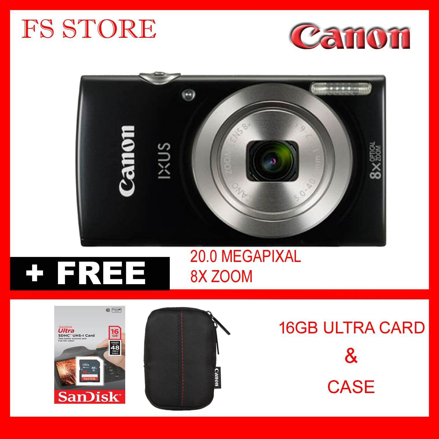 CANON IXUS 185 FREE 16GB ULTRA CARD CASE