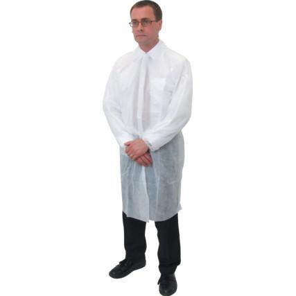 NON WOVEN VISITORS COAT (X/L) (PK-25) SSF9629002E