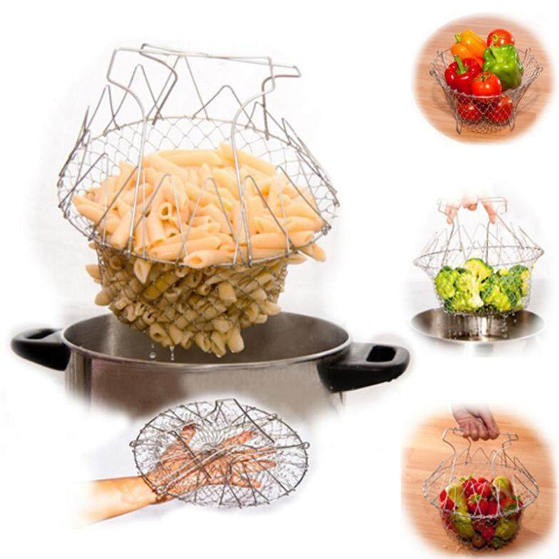 Yoi Chef Basket 12 In 1 Magic Kitchen Tool Foldable Stainless Steel Steam Fry Strainer Multipurpose By Yoi Online Mall.