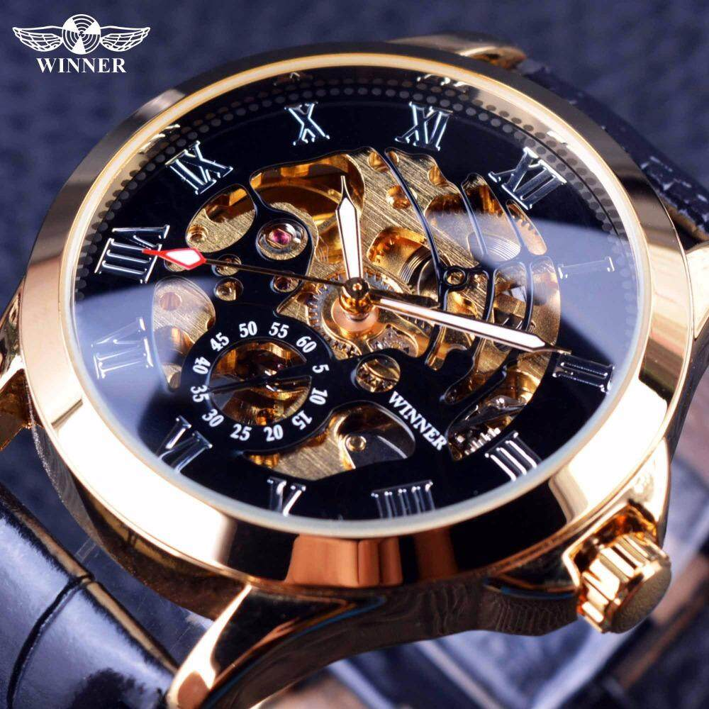 WINNER Mens fashion business casual automatic mechanical watches Malaysia