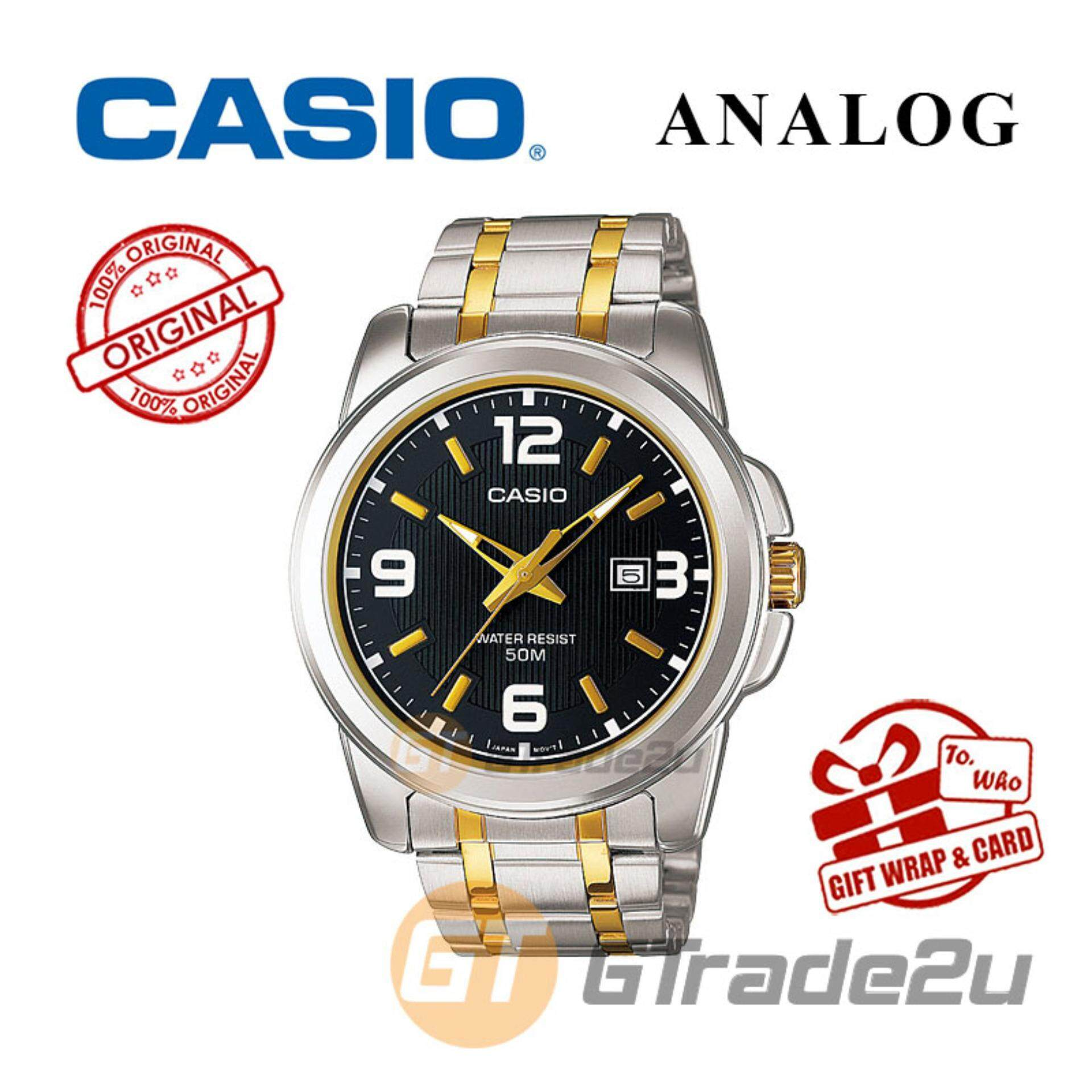 Casio Men Watches Price In Malaysia Best Lazada Jam Tangan Standard Ae 1200wh 1avef Mens Silver Stainless Steel Strap Watch Mtp 1314sg 1av