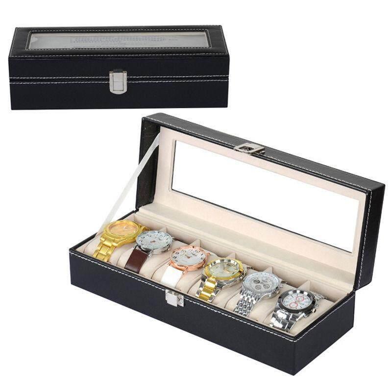 6 Slot PU Leather Watch Box Display Kotak Jam Malaysia