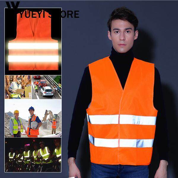 YYSL Reflective Clothes Safety Vest Strips Red Workers Traffic High Visibility