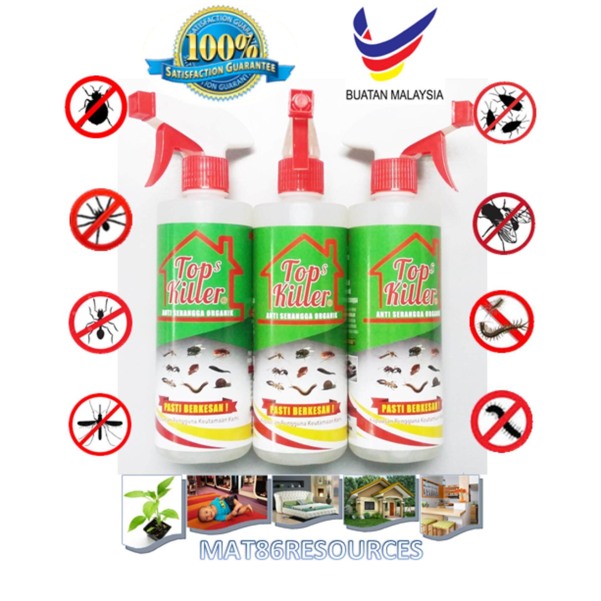 TOP KILLER spray organic hapus lipas semut anai-anai nyamuk