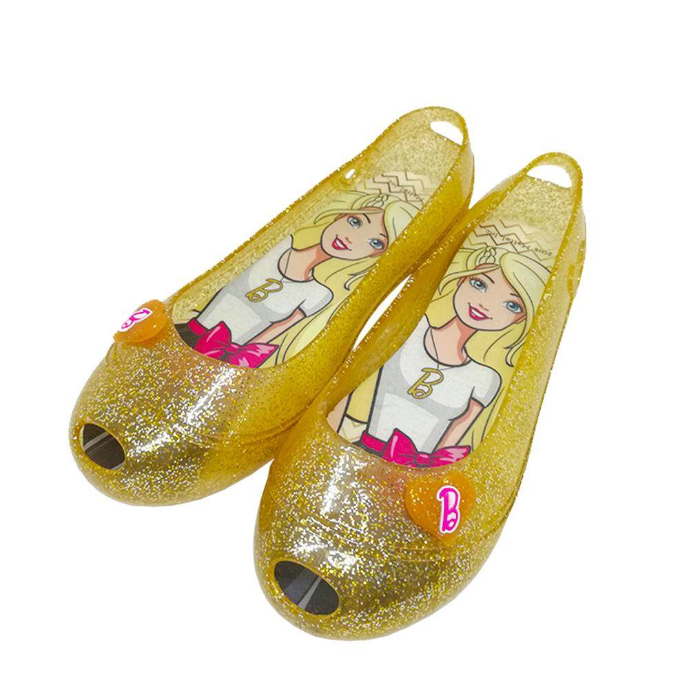 68bc771779d GlamKidz Barbie Kids Fashion Shoes (Gold)  6201