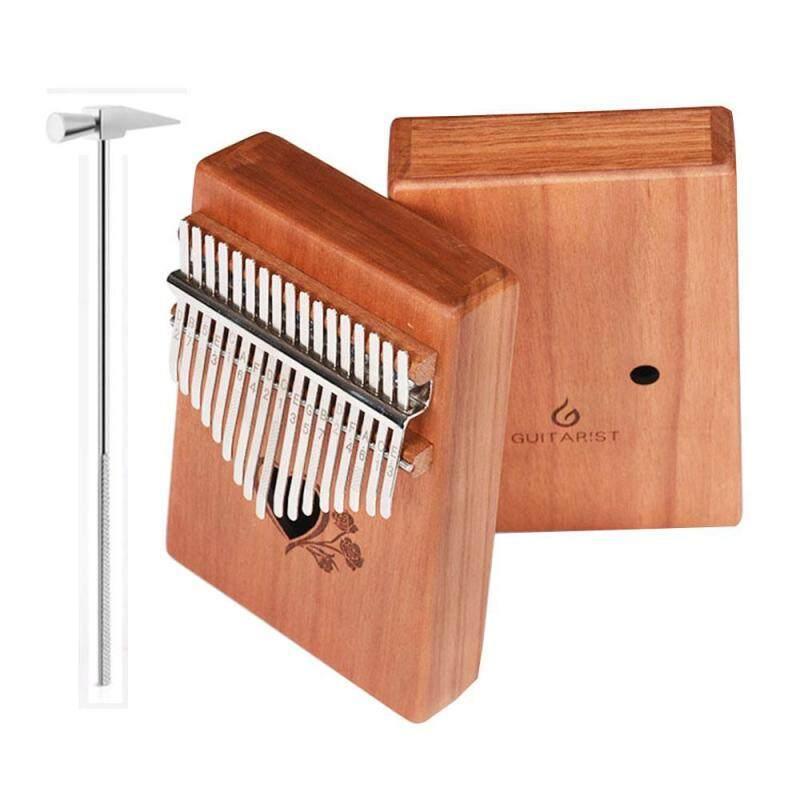 [Free Shipping] Kalimba 17-tone Kalimba thumb piano peach core acacia wood veneer practice hand piano Malaysia
