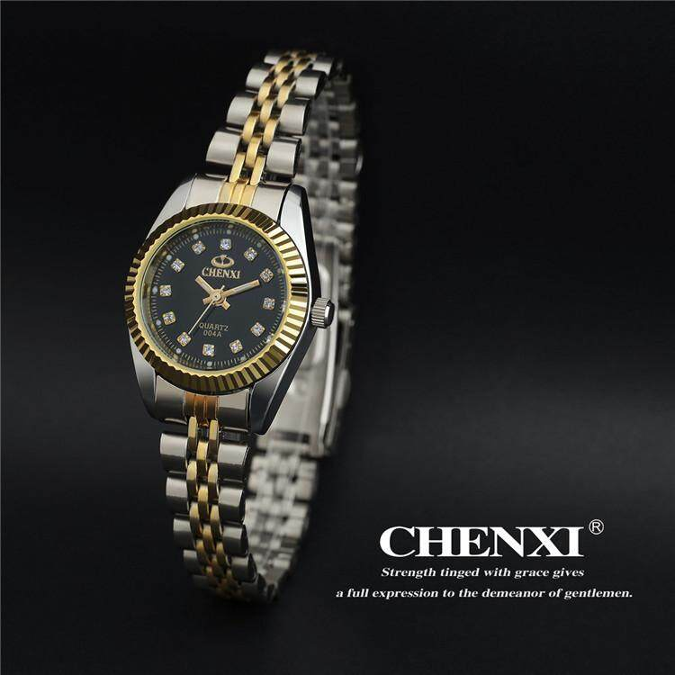 Brand CHENXI Rhinestone Woman Watch Luxury Thin Steel Strap Quartz Wristwatch Elegant Lady Casual Clock Waterproof Malaysia