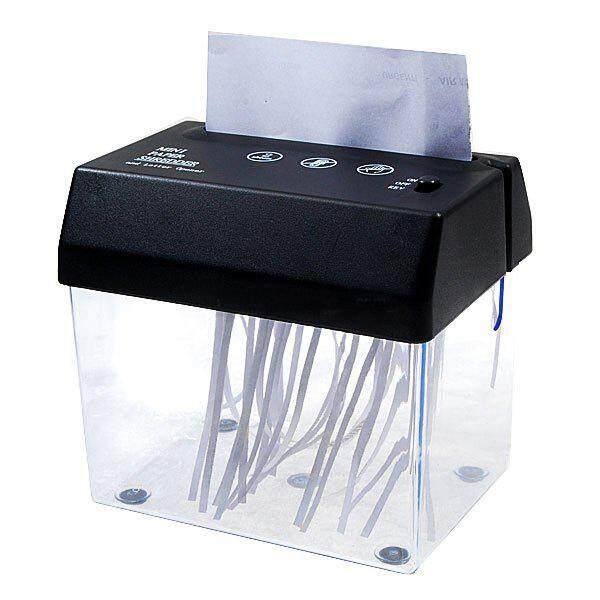 Desktop A5 Or A4 Folded Paper Strip Cut Mini Small Usb Shredder For Home