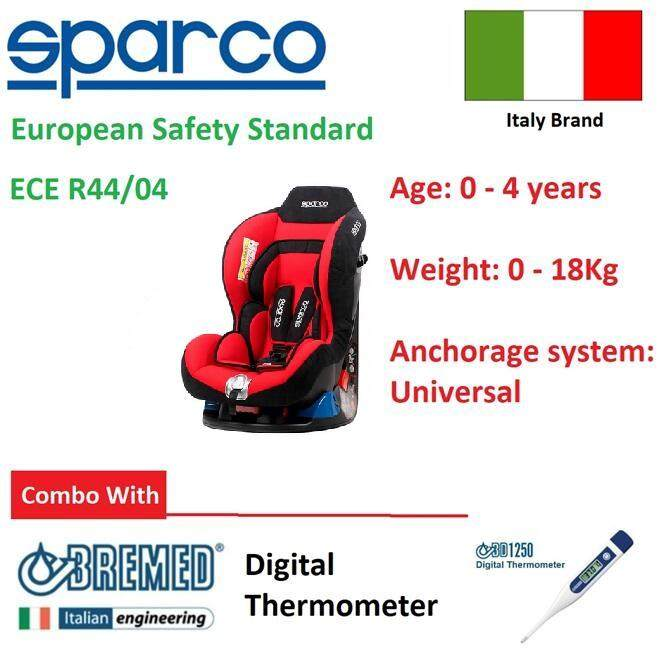 Sparco Italy F5000k Convertible Baby Car Seat Free Thermometer