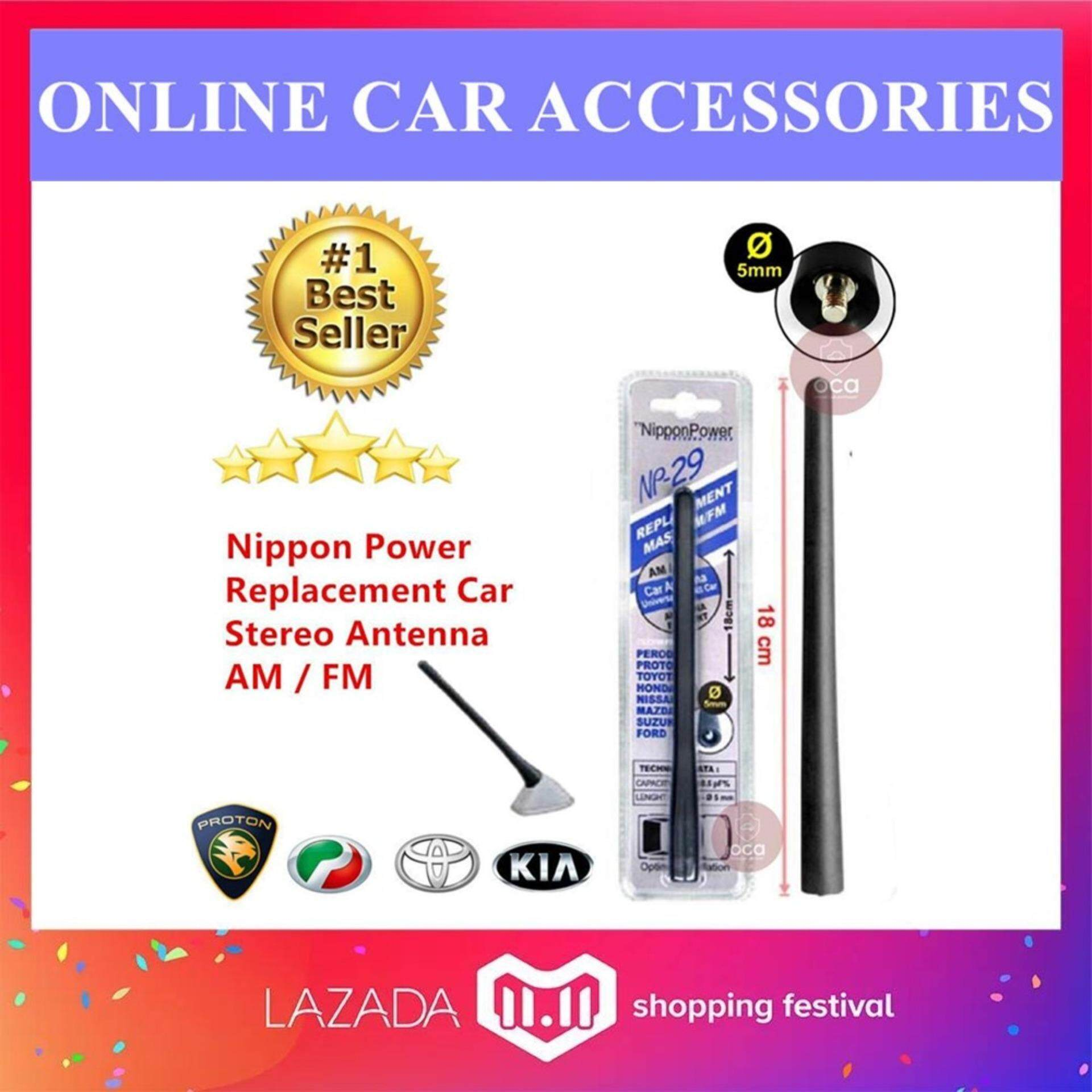 Car Audio Buy At Best Price In Malaysia 2007 Toyota Camry Stereo Amp Wiring Nippon Power Np 29 Replacement Antenna Am Fm 18cm