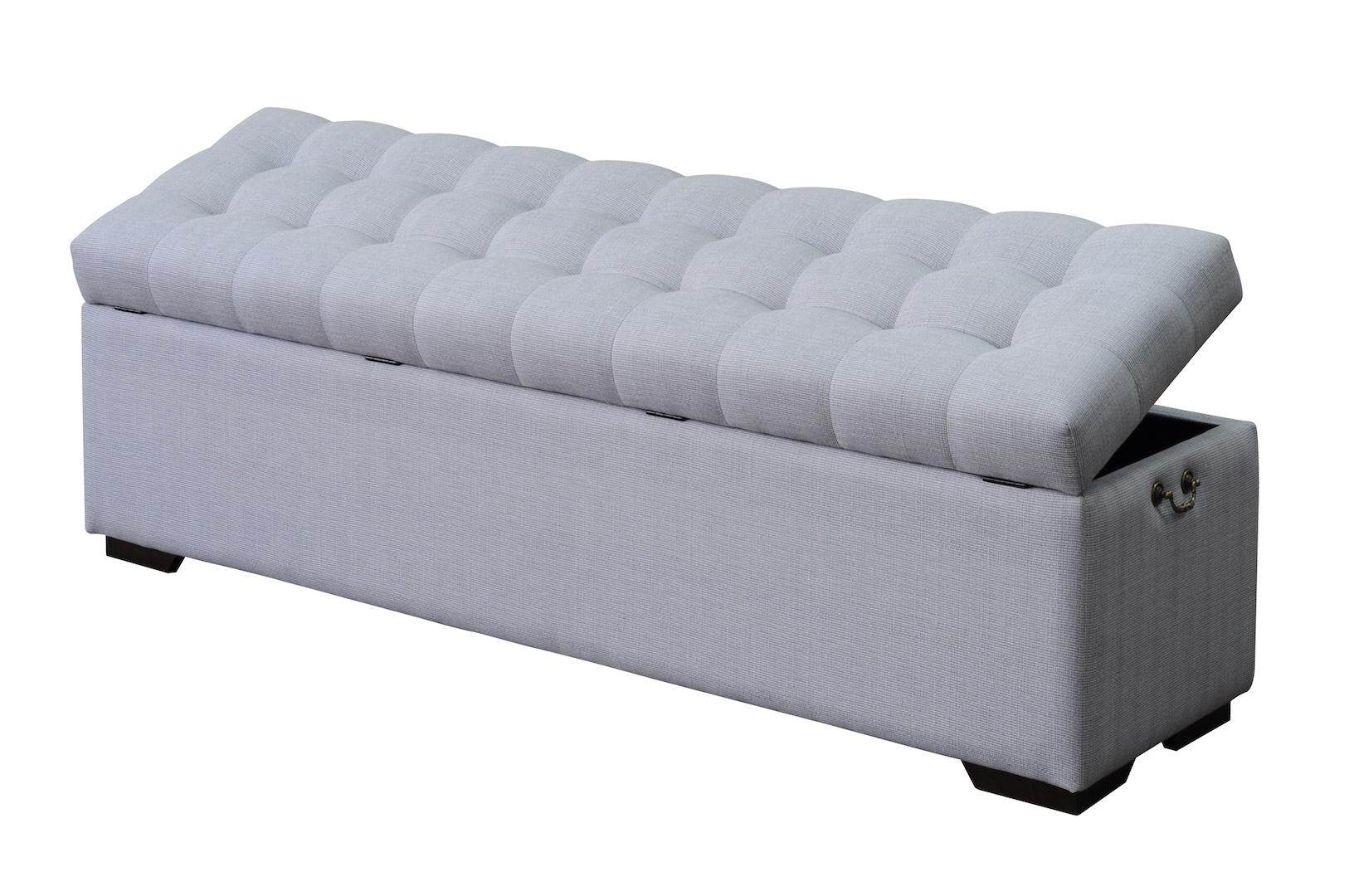 Solano Ottoman Storage Bench Chair With CLR Waterproof Fabric