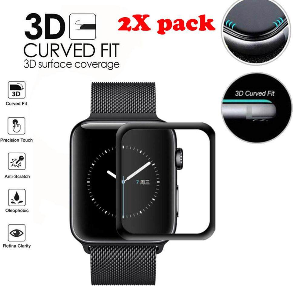 2-Pack Full Edge Tempered Screen Protector For For Apple Watch Series 1/2/3 42mm Tuckerstore By Tuckerstore.