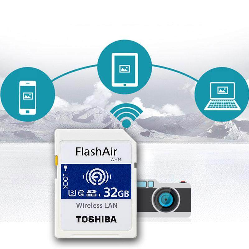Genuine Toshiba 16gb / 32gb / 64gb Toshiba Flash Air W-04 4k Wifi Sd Card Class 10 By Infosys Solution (hotdeal).